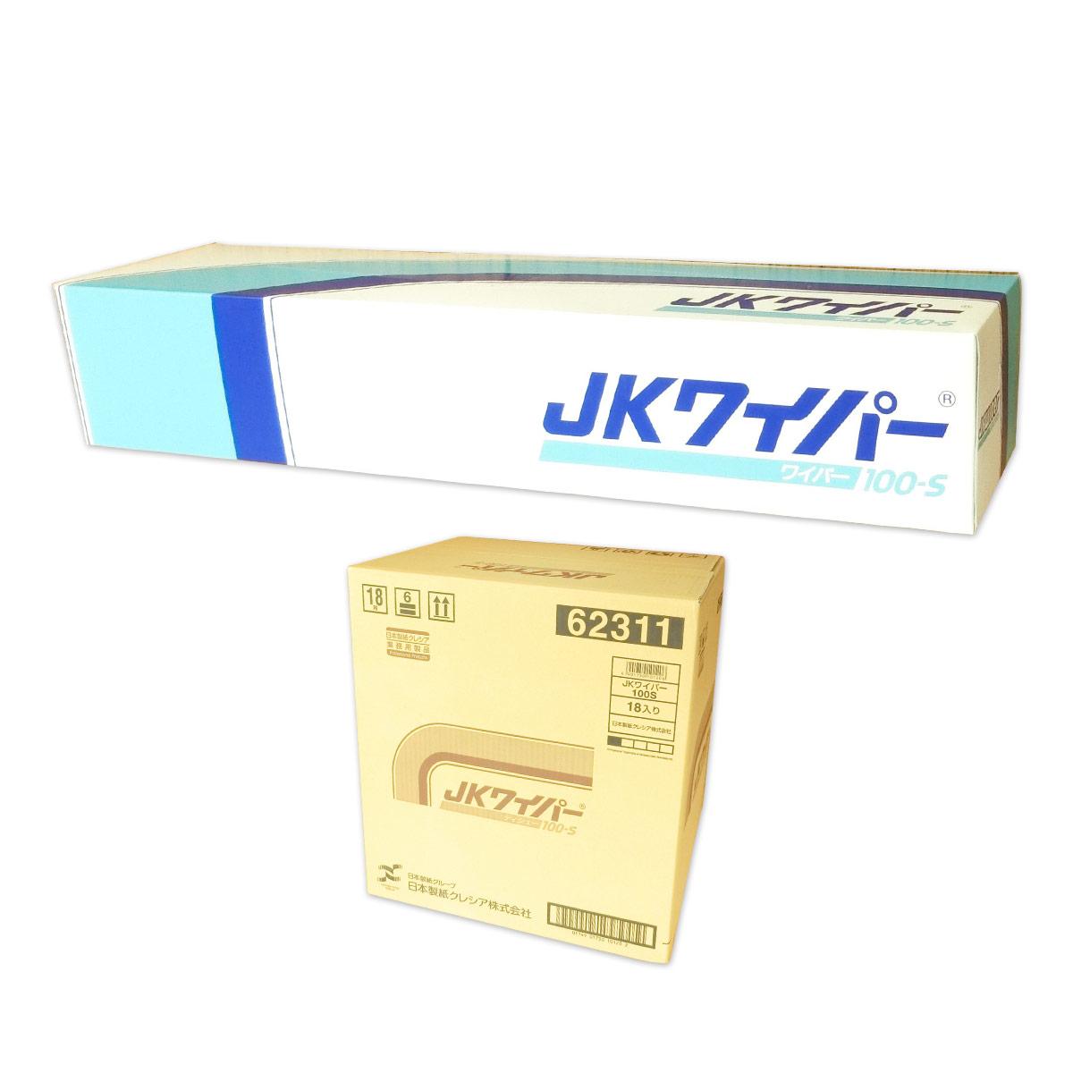 JKワイパー 100-S 100枚入 × 18箱 【日本製紙クレシア 業務用】【62311 tmp】