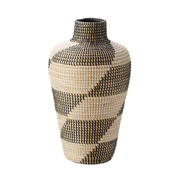 【送料無料】籐のある生活 シーグラス製花瓶型バスケット「12-21」【花瓶 フラワーベース 花瓶 北欧 花瓶 かご】