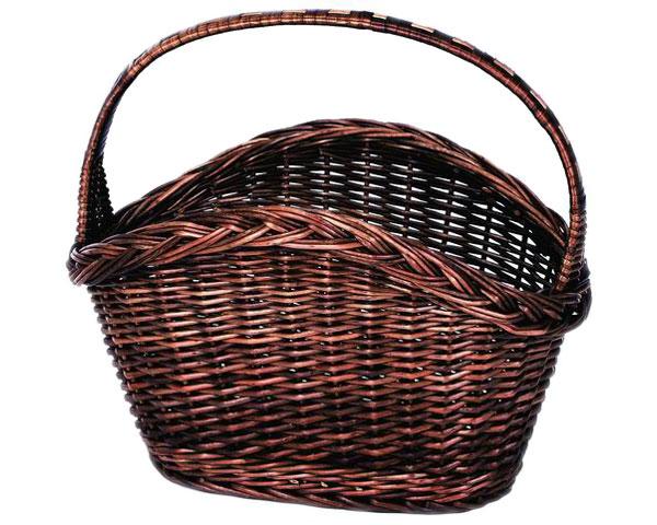 【2個セット】籐のある生活 ピクニックバスケット「43-41」【インテリア・収納/小物入れ/かご・バスケット/スモーク煮柳製】【収納ボックス】