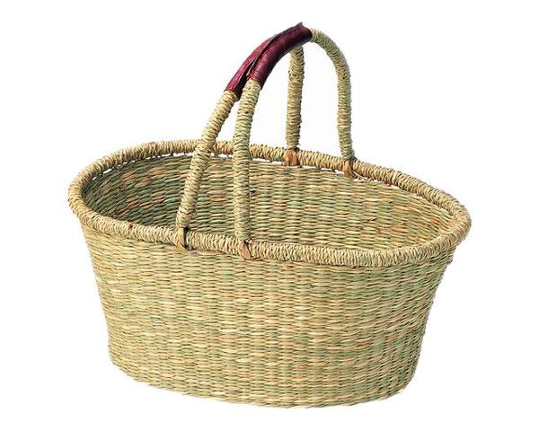 ピクニックバスケット 11-16 注目ブランド インテリア 収納 小物入れ 籐のある生活 お買い得品 バスケット シーグラス製 かご