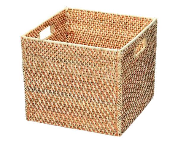 【送料無料】【2個セット】籐のある生活 持ち手付きバスケット「03-87」【インテリア・収納/小物入れ/かご・バスケット/籐製】【収納ボックス】