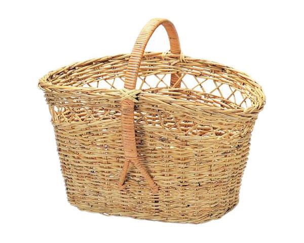 【送料無料】【2個セット】籐のある生活 ピクニックバスケット「33-72」【インテリア・収納/小物入れ/かご・バスケット/スリムット製】【収納ボックス】