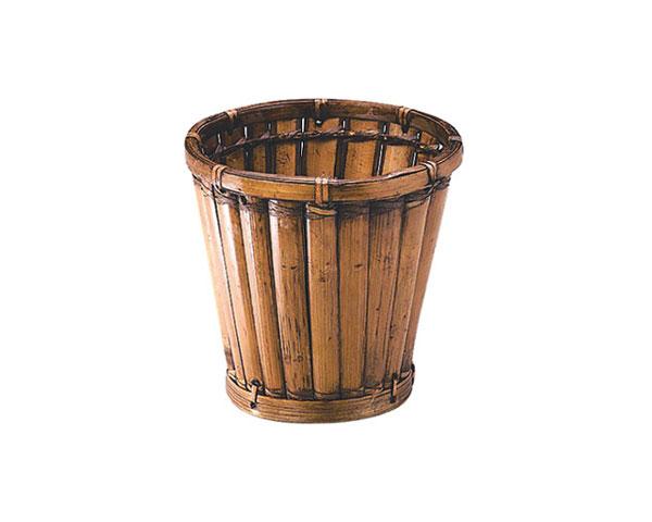 籐のある生活 竹製鉢カバー「40-01」【花・ガーデン・DIY/ガーデニング/鉢カバー/4号~6号。】 竹製ポットカバー 直径24×h24 「40-01」【ガーデニング ポットカバー 鉢カバー 4号~6号】