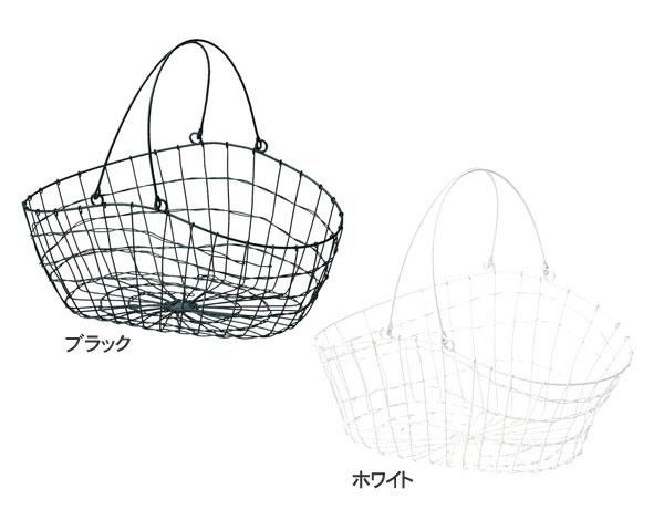【2個セット】籐のある生活 持ち手付きバスケット「83-34」【インテリア・収納/小物入れ/かご・バスケット/ワイヤー製】【収納ボックス】