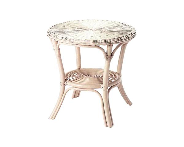【2個セット】【送料無料】籐のある生活 籐製センターテーブル ホワイト「CT-102WH」【インテリア/テーブル/センターテーブル】