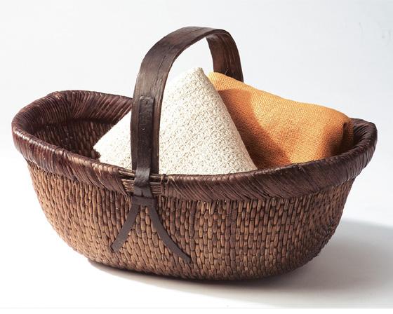 【送料無料】【2個セット】【ラタン収納/カゴ】籐のある生活 Traditional Willow(染め柳かご)バスケット「47-51」【バスケット容器・カゴ籠・rattanbasket】【収納ボックス】
