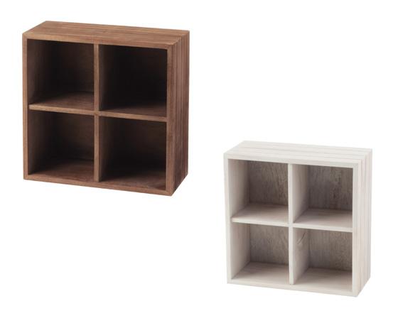【送料無料】チェリーウッド 小物ディスプレイラック w34×d15.5×h34 「16-71」【小物 収納 ラック 木製 小物 ディスプレイ カラーボックス 収納ボックス】