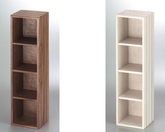 【送料無料】【2個セット】【木製】籐のある生活 Cherry Wood Furniture(チェリーウッド家具)ラック「16-38DBR」【収納ボックス】