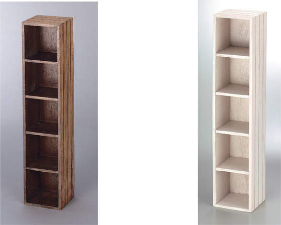 【3,980円以上購入で送料無料】【送料無料】【2個セット】【木製】籐のある生活 Cherry Wood Furniture(チェリーウッド家具)ラック「16-39DBR」【収納ボックス】