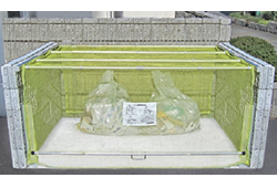 ゴミステーション 大型ゴミ箱 送料無料 お客様組立 ダイケン クリーンストッカー ネットタイプ CKA-2012