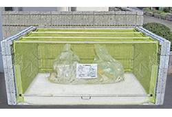 ゴミステーション 大型ゴミ箱 送料無料 お客様組立 ダイケン クリーンストッカー ネットタイプ CKA-2016 幅2000×奥行1600×高さ1200mm