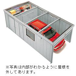 イナバガレージ シャコパルテ ハイルーフ 一般型 KR-223H 幅3280×奥行7440×高さ2410mm