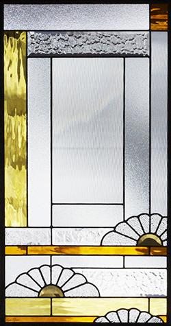 セブンホーム 遮音・断熱・防犯性のステンドグラス ピュアグラス Aサイズ SH-A33 [ステンドグラス/ガラス/インテリア/窓/小窓/室内/屋内]