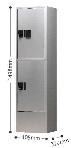 ナスタ 宅配ボックス プチ宅ユニット2 (プチ宅H600型×2ボックス+ユニット枠 ※4~6世帯向け) ※お客様組立品