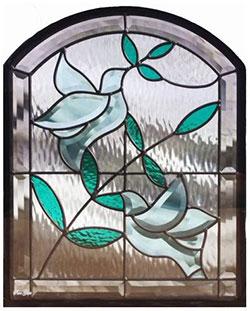 セブンホーム 遮音・断熱・防犯性のステンドグラス ピュアグラス Aサイズ SH-K07N