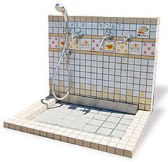 ドッグシャワーコンビ(デザインタイルタイプ) MI-DG01a [送料別途御見積もり]
