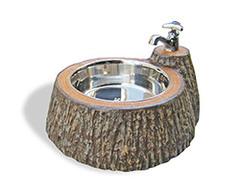 ドッグ専用水飲み(擬木タイプ) MI-DG02 [送料別途御見積もり]