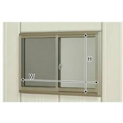 タクボ物置トールマン・シャッターマン専用 オプション サッシ窓(ガラス付) 壁パネル20+21用 J-S2021A (本体同時発注価格)