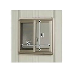 タクボ物置ストックマン・シャッターマン専用 オプション サッシ窓(ガラス付) 壁パネル21用 N-S21A (本体同時発注価格)