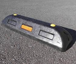 (有)サンセルフ リサイクル車止めES100黒アスファルト用 10本セット