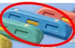 (有)サンセルフ リサイクル車止めES100青コンクリート用 10本セット