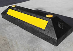 (有)サンセルフ リサイクル車止めパーキングラバーコンクリート用 10本セット