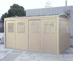 ゴミステーション 大型ゴミ箱 シコク ゴミストッカー LL型 基本セット GSLL-HP2440SC ※受注生産 [自治会/町内会/設置/屋外/カラス/対策/猫/大容量/ごみ/ゴミ箱]