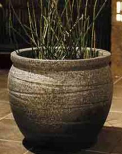 【送料無料】タカショー 和のガーデングッズ 壷型水鉢 KTO-042 古陶壷型水鉢13号 青窯肌