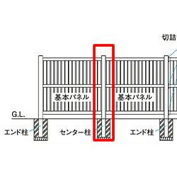 【送料無料】タカショー ロイヤルフェンスハイタイプ キングストン 127角柱4型(センター用) 柱キャップ別売 【条件付き送料無料】