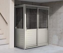 ゴミステーション 大型ゴミ箱 シコク ゴミストッカー BM1型(メッシュタイプ)1809SC+GS床セット付 [自治会/町内会/設置/屋外/カラス/対策/猫/大容量/ごみ/ゴミ箱]