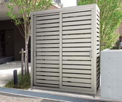 ゴミステーション 大型ゴミ箱 シコク ゴミストッカー BM2型 (パネルタイプ)1807SC+GS床面セット付 [自治会/町内会/設置/屋外/カラス/対策/猫/大容量/ごみ/ゴミ箱]