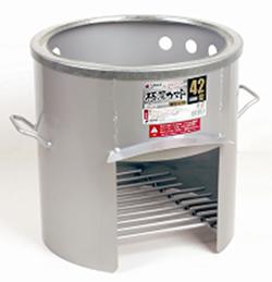 【エリア限定送料無料】【4トン車配送】サンカ 42型 極厚かまど 鍋受リング付 OS-0666