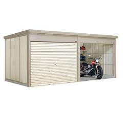 タクボ物置 Mr.シャッターマン ダンディ WSB-2526-2 一般型 標準屋根 2連棟[収納庫/収納/屋外収納庫/屋外/倉庫/中型/大型]