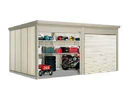 タクボ物置 Mr.シャッターマン ダンディ WSB-Z2229-2 一般型・結露減少屋根 2連棟[収納庫/収納/屋外収納庫/屋外/倉庫/中型/大型]