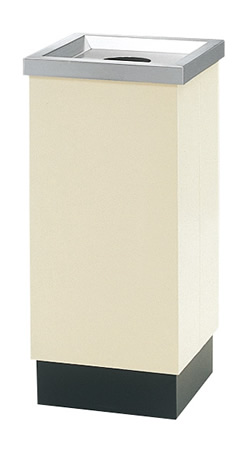 株ぶんぶく オープンタイプ 奥行33cmタイプ オープントラッシュ(ビン・カン投入口)本体アイボリー+上部ステンレスヘアライン仕上げ OSE-65