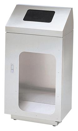 株ぶんぶく リサイクルトラッシュ窓付 一般ゴミ用 (ステンレスヘアライン仕上)OSE-Z-37
