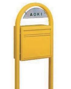 YKKAP 独立型ポスト ポスティモ FMB-1 1A前入れ後ろ出し 選べる8色 【送料無料】 KSK