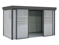 ゴミステーション 大型ゴミ箱 ヨドコウ ゴミ収集庫 ダストピット Fタイプ(DPF型) DPFS-3719 積雪型(55世帯用) [自治会/町内会/設置/屋外/カラス/対策/猫/大容量/ごみ/ゴミ箱/ゴミストッカー]