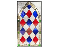 セブンホーム 遮音・断熱・防犯性のステンドグラス ピュアグラス Aサイズ SH-A40