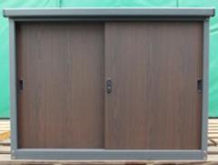 小型収納庫NE-4DB 木目調 KSK W1230mm×D500mm×H900mm 【エリア限定送料無料】 [収納庫/収納/屋外収納庫/屋外/倉庫/中型/大型/激安/価格/小屋/ガーデニング/庭/ものおき/物置き]