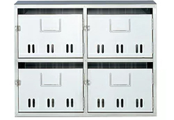 [4戸用]ナスタ 公団型集合郵便受箱(SA型) 前入前出 4戸用 KS-MB4SA