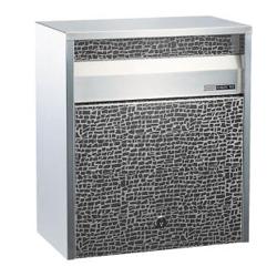 ハッピー金属工業 送料無料 ハッピー ステンレスポスト ファミールシリーズ 680-ET エッチング カギ付き[壁掛けポスト/戸建ポスト/郵便受け/郵便ポスト]