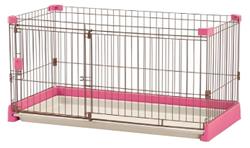 リッチェル ペット用 お掃除簡単サークル 120-60 ピンク