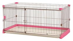リッチェル ペット用 お掃除簡単サークル 150-80 ピンク
