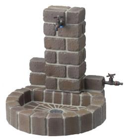 ニッコーエクステリア 立水栓ユニット サークルタイプ 一式セット(補助蛇口あり)丸型パン トランスブラウン OPB-RS-1WT-PA-TB+蛇口N202+補助蛇口N212+ホースアダプターF503セット OPB-RS-1WT-PA-TB-set