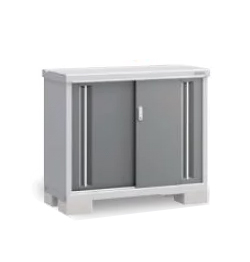スチール イナバ物置 シンプリー MJX-115A(全面棚タイプ)    [収納庫/収納/屋外収納庫/倉庫/小型/小屋/いなば物置/稲葉/物置き]