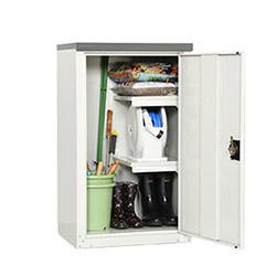 グリーンライフ物置 扉式収納庫(ハーフ棚板仕様)TBJ-102HT [収納庫/収納/倉庫/激安/安い/小屋/小型/ガーデニング/庭/物置き]