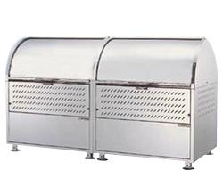 ゴミステーション 大型ゴミ箱 ダイケン ステンレス クリーンストッカー CKM-1800R (*18-8ステンレス鋼を使用) [アパート/マンション/設置/屋外/カラス/対策/猫/大容量/ごみ/ゴミ箱]