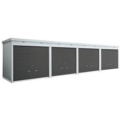イナバ物置 シャッタータイプ連続型 FXN-50HYL 基本棟(1棟目) 床付タイプ 一般型【送料要見積り】【お客様組立】