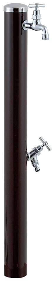 宝泉製作所 スタイリッシュモダン水栓柱 ウォーターポール チョコ 2口 351C